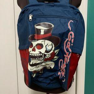 Ed hardy vintage skull graphic print backpack